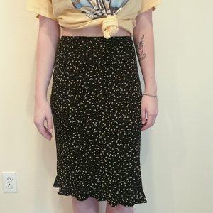 Vintage star/moon midi skirt